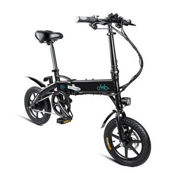 FIIDO D1 Mini Electric Bicycle Dual Disc Brake Aluminum Alloy Smart Folding Electric Bike EU Plug 7.8AH /10.4AH BATTERY