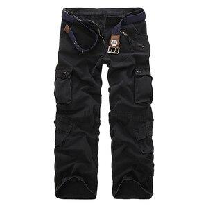 Image 2 - Dropshipping Cotone Cargo Pantaloni Da Uomo in Stile Militare Tattico Allenamento Pantaloni Dritti Casual Camouflage Pantaloni Uomo