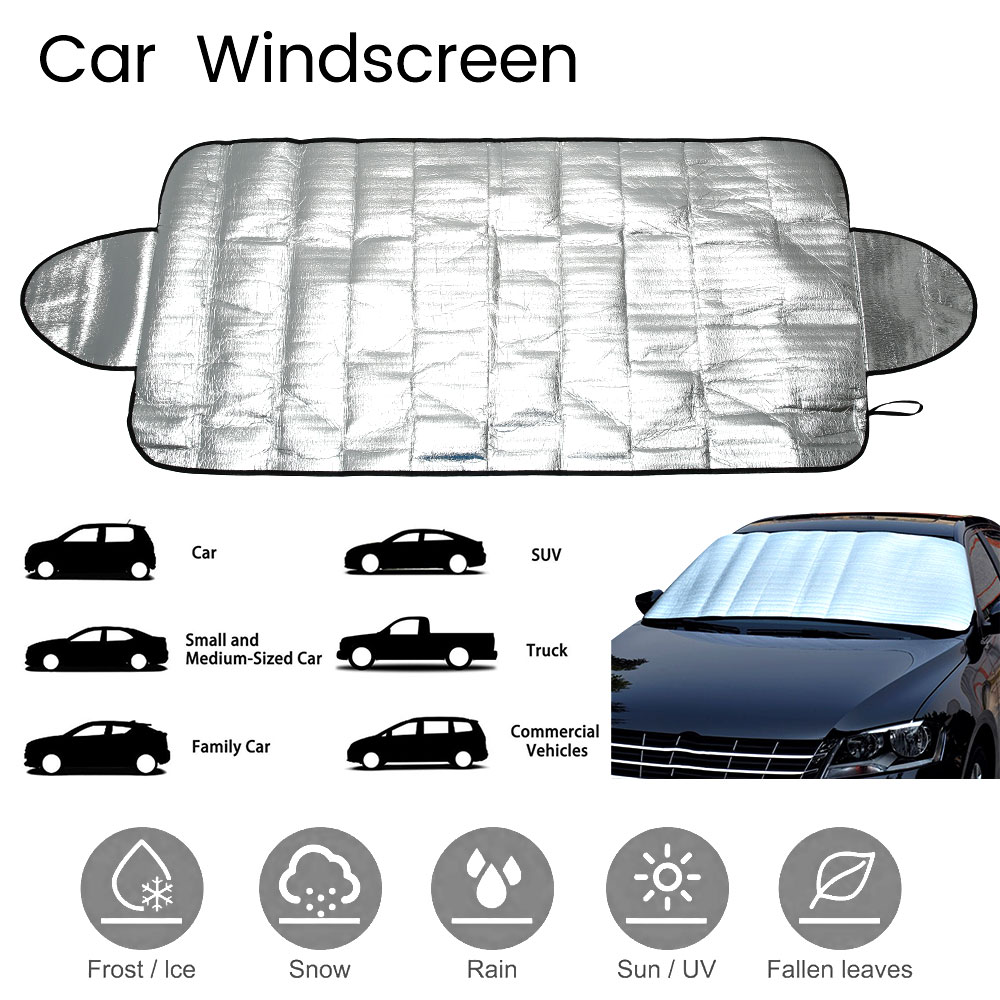 147x70cm Car Windshield Sunshades SUV Magnetic PE Shade Snow Block Windshield Ice Cover Dust Sun Shade Protector In All Weather