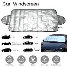 147x70cm przednia szyba samochodu osłony przeciwsłoneczne SUV magnetyczny odcień PE Snow Block szyba przednia okład lodowy pył parasol przeciwsłoneczny Protector na każdą pogodę tanie tanio Car Windscreen
