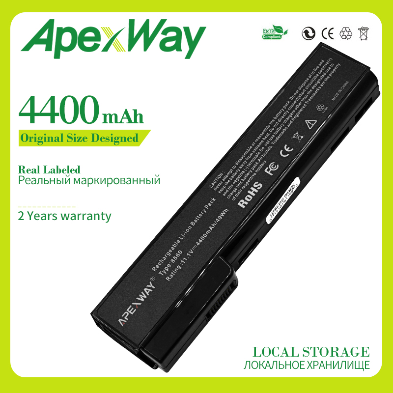 Apexway Laptop Battery For HP 8460 8560p 8570p CC06XL 628369-421 628664-001 For EliteBook 8460p 8460w 8470p 8470w