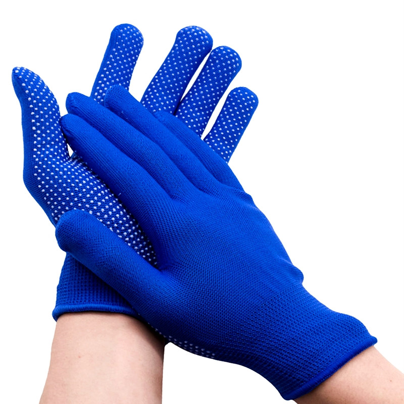 One Pair Nylon Beaded Wear-resistant Gloves Non-slip Breathable Dust Proof Glove For Working