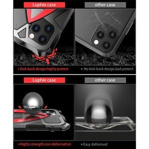 Image 3 - Luphie Cassa Del Telefono Shockproof Per il iPhone 11 Pro Max di Grado Militare Goccia Testato Caso Coque Per iPhone X XS Max xr Alluminio Della Copertura