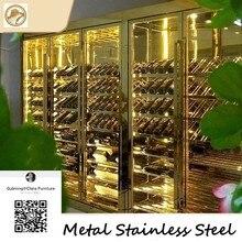 ifurniture Custom stainless steel wine cabinet