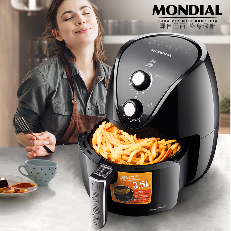 Monda Air Fryer Household Oil Free Size Capacity Deep Frying Pan Fully Automatic Fries Machine Smart Oven|Electric Deep Fryers| |  - title=