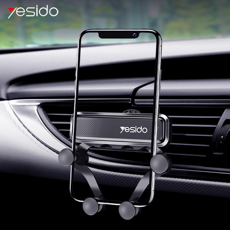 Yesido Gravity Car Holder For Phone In Car Air Vent Clip Mount Linkage Handy Mobile Phone Holder GPS Stand For IPhone 11 Xiaomi