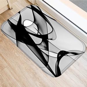 Image 5 - 40 * 60 Marble Lattice Rectangular Flannel Thick Carpet Washable Floor Mat Home Bedroom Hotel Decorative Floor Mat Bathroom Mat.