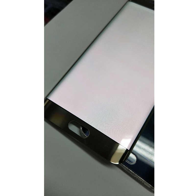 עבור סמסונג גלקסי S6 קצה LCD G925 G925F SM-G925F תצוגה + מגע מסך 5.1 ''S6 קצה LCD Digitizer עצרת (אדום צריבה צל)