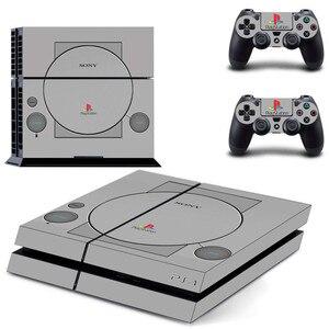 Image 1 - PS1 סגנון PS4 מדבקות לשחק תחנת 4 עור PS 4 מדבקת מדבקות כיסוי לפלייסטיישן 4 PS4 קונסולה ובקר עורות ויניל