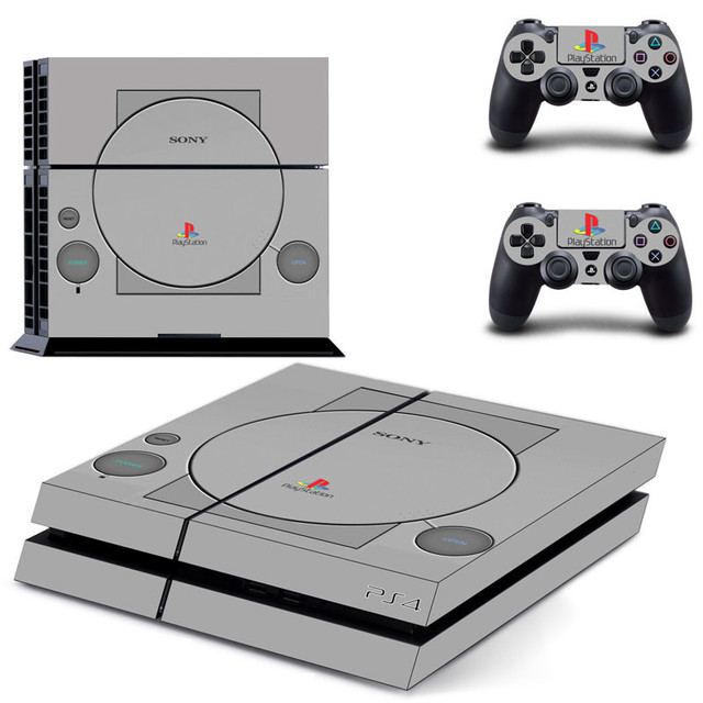 PS1 סגנון PS4 מדבקות לשחק תחנת 4 עור PS 4 מדבקת מדבקות כיסוי לפלייסטיישן 4 PS4 קונסולה ובקר עורות ויניל