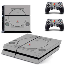 PS1 styl PS4 naklejki Play station 4 skóry PS 4 naklejki naklejki pokrywa dla konsoli PlayStation 4 PS4 i kontroler skórki winylu