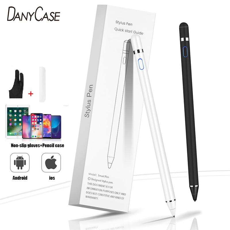 Caneta stylus ativa tela de toque capacitivo lápis para samsung xiaomi huawei ipad tablet telefones ios android lápis para desenho