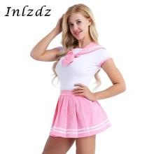 Women Girls Fancy Cosplay Costume Romper with Mini Pleated Skirt Adult Babies Cosplay Sets Diaper Lovers Role Play Game Clothes cheap Skirts Movie TV Cagalli Yula Polyester Costumes