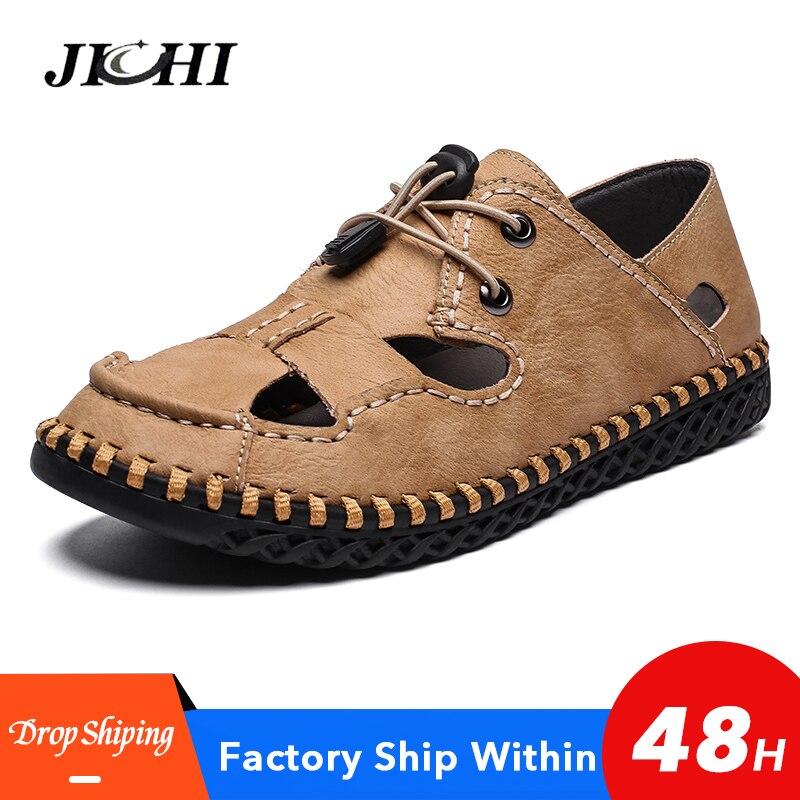 Fashionable Sandals Men Flat Hollow Out Slides Sandals Comfort Lightweight Walking Mens Sandals Summer Thick Plus Size Casual