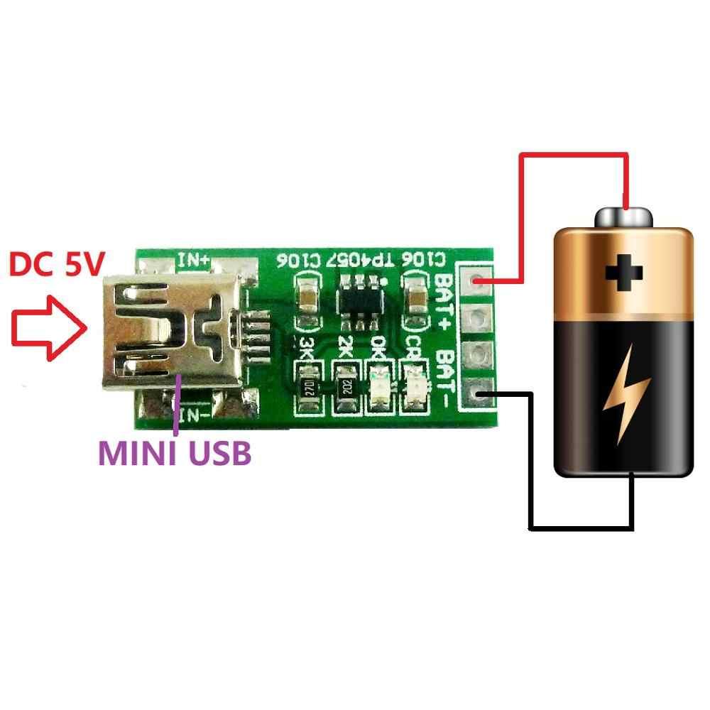 2x Mini USB Li Lithium Batterij Oplader Module TP4057 DC 5V naar 4.2V Step-down buck Board voor diy Mobiele telefoon 18650 Solar Charger