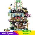 Строительные блоки legoingLYS  совместимые с masts of Spinjitzu  70620  город ниндзя  модульные игрушки для детей  подарки с рисунками