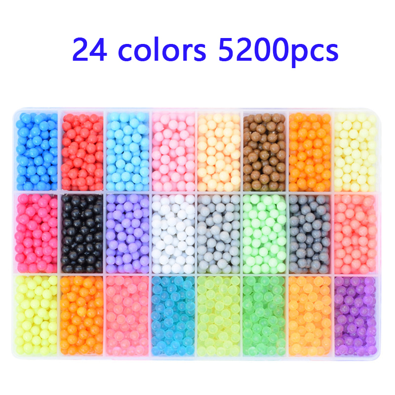 6000 Pcs DIY Water Magic Beads Toys For Children Animal Molds Hand Making Puzzles Kids Educational Toys Spell Replenish Beans