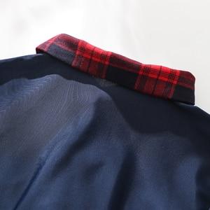Image 4 - Seksowna dziurka od klucza szkoły dziewczyny bielizna damska mundurek szkolny z przodu krawat spódnica Mini w szkocką kratkę czerwone egzotyczne kostiumy do odgrywania ról