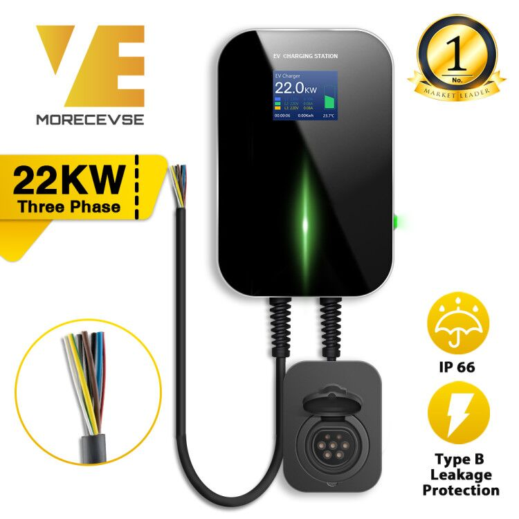 32A 3Phase EVSE Wallbox EV Charger Electric Vehicle Charging Station Type 2 Socket IEC 62196 2 for Audi MINI Cooper VolkswagenChargers & Service Equipment   -