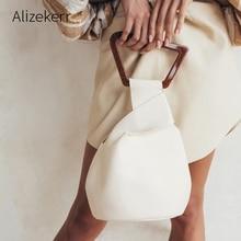 Purses Tote-Bag Irregular-Handbag Soft-Bucket Acrylic-Handle Female Designers Women New-Fashion