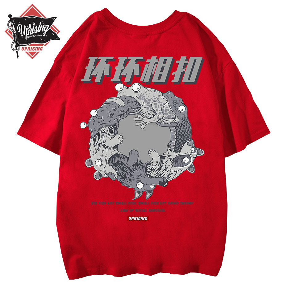 Hip-hop street unique short-sleeved T-shirt with interesting personality, rare, European, American and Japanese short t shirt