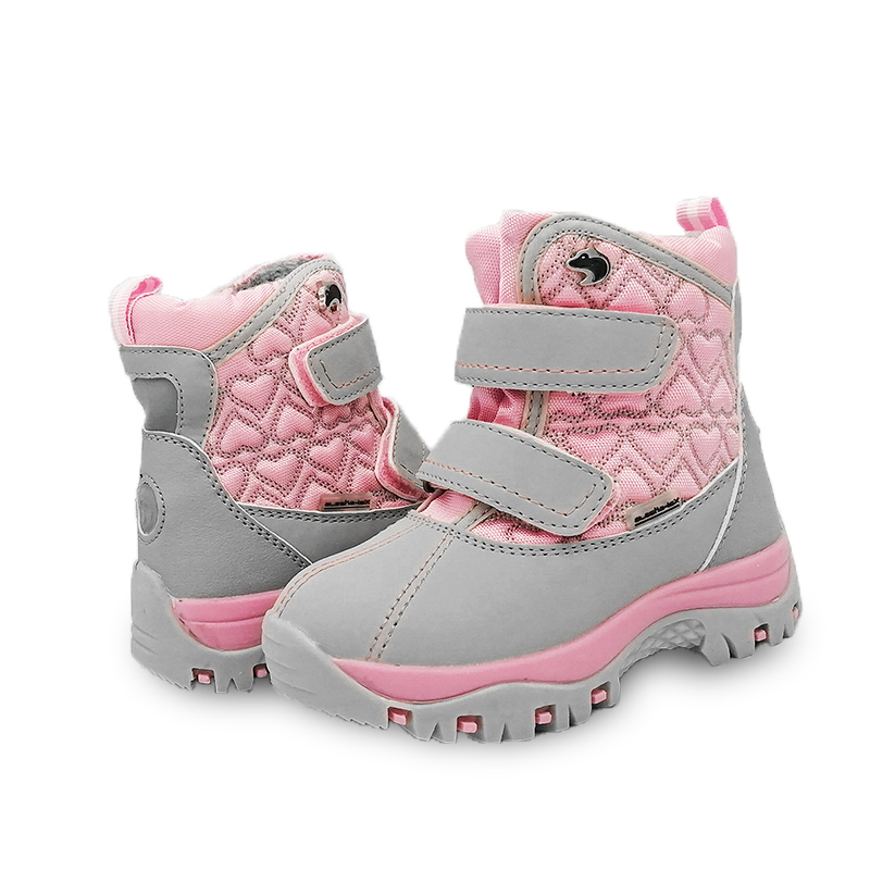 NEW 1pair waterproof Snow Boots Winter Children's <font><b>Shoes</b></font> warm boots ,-<font><b>30</b></font> or -40 degrees Fashion Boy/Girl Boots,inner natural wool image