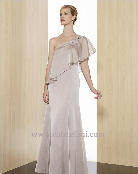 Free Shipping Dinner 2018 Vestido De Festa Formales Gown Crystal Beaded Long Chiffon Brides Robe De Soiree Bridesmaid Dresses