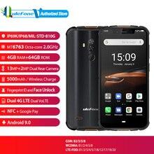 "Ulefone שריון 5S הגלובלי גרסה טביעת אצבע פנים נעילת 5000mAh אנדרואיד 9.0 IP68 NFC 5.85 ""4 GB + 64GB 4G Smartphone"