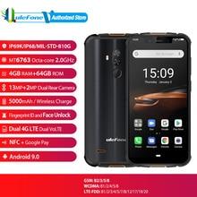 "Ulefone zırh 5S küresel sürüm parmak İzi yüz kilidini cep telefonu 5000mAh Android 9.0 IP68 NFC 5.85 ""4 GB + 64GB 4G akıllı telefon"