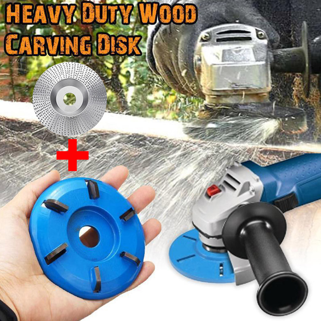 2pc Carbide Wood Sanding Carving Shaping Disc For Angle Grinder/Grinding Wheel Dropshipping Winter 2020 Decoration Accessories T