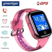 Greentiger GPS K21 스마트 워치 어린이 GPS LBS 위치 IP67 방수 SOS 카메라 알람 시계 아기 Smartwatch 어린이 VS Q50 Q90