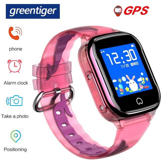 Greentiger GPS K21 חכם שעון ילדים GPS LBS מיקום IP67 עמיד למים SOS מצלמה מעורר שעון תינוק Smartwatch ילדי VS Q50 q90
