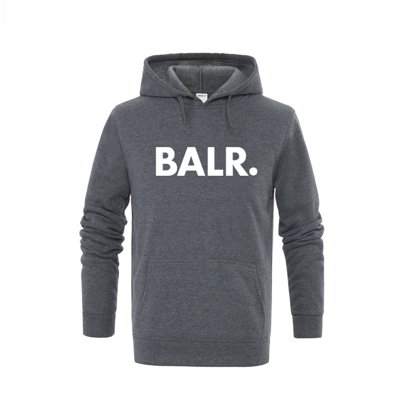 2019 New BALR Fleece Casual Unisex Hoodies Sweatshirt Cool Hip Pop Pullover Hip Hop Punk Mens Sportwear Coat Jogger Tracksuit
