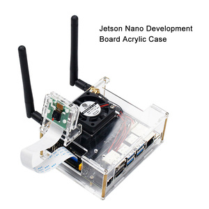 Image 2 - NVIDIA Jetson Nano Entwickler kit Klar Acryl Fall für Jetson Nano mit Lüfter