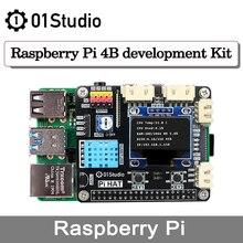01Studio Raspberry Pi 4 4B zestaw programowania programowania pokładzie Python Linux sztuczna inteligencja RAM 2G 4G 8G