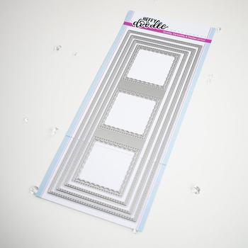 AliliArts Metal Cutting Dies Stitched Slimline Trio diy Scrapbooking Photo Album Decorative Embossing PaperCard Crafts Die 2020
