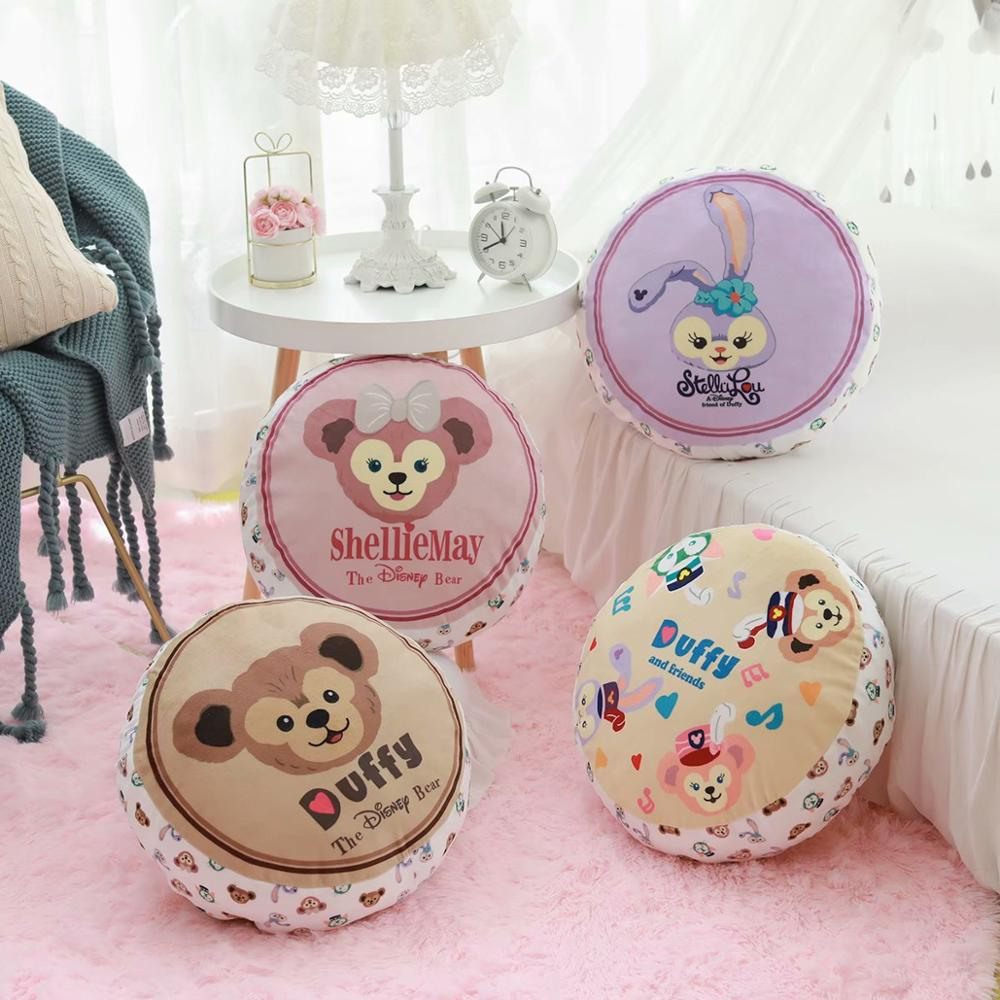 Cute Cartoon Duffy Super Soft Round Pillow Siesta Sofa Cushion Living Room Car Office Waist Removable and Washable image