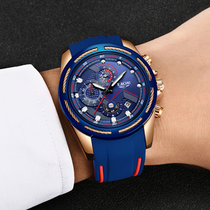 Image 3 - 2019 LIGE Mens Watches Top Brand Luxury Sport Chronograph Date Quartz Watch Men Silicone Strap Fashion Waterproof Watch Reloje