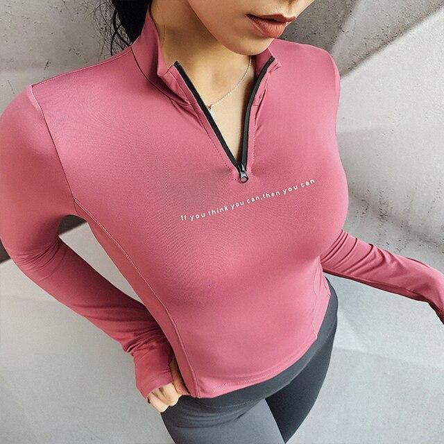Купить женские спортивные топы быстросохнущая рубашка с воротником картинки