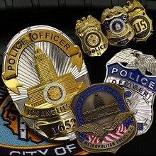 Badge de Cosplay en cuivre des états-unis, Badge de l'agent spécial chemise de détective, broche à revers, insigne 1:1, tailles complètes