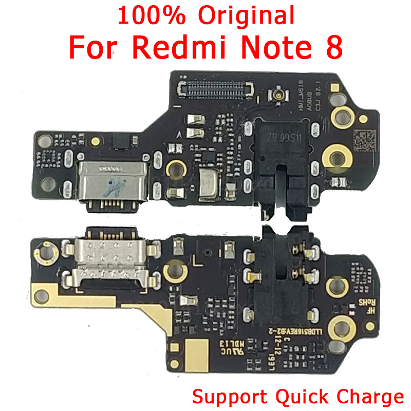 Original Spare Parts For Redmi <font><b>Note</b></font> <font><b>8</b></font> Charging Port USB Plug Flex Cable For Redmi <font><b>Note</b></font> <font><b>8</b></font> Charger <font><b>Board</b></font> PCB Dock Connector image