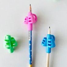 2 pçs silicone dois-dedo lápis aperto escrita corrector lápis aperto postura aperto caneta suportes ferramenta de correção de treinamento de escrita