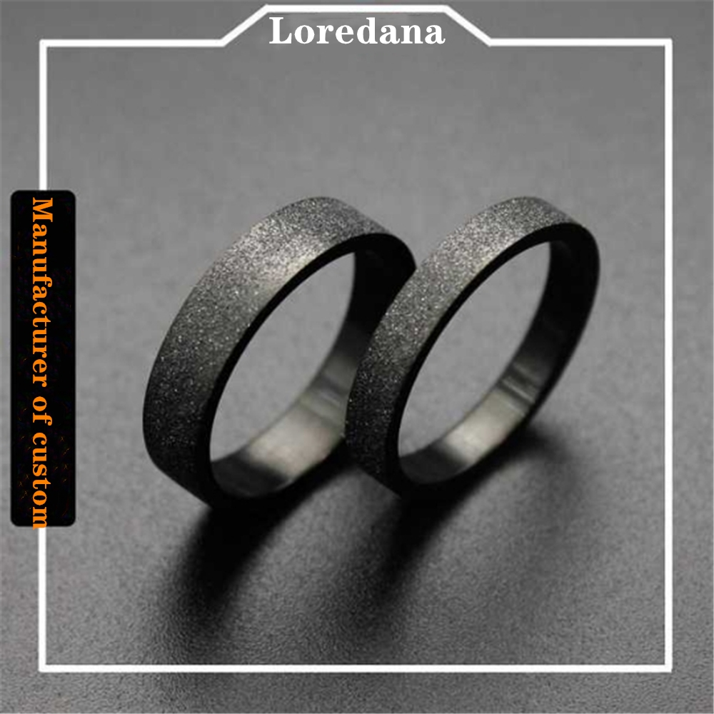 Стильные Кольца из титановой стали для женщин, черные шлифовальные кольца из нержавеющей стали для простых любителей, высококачественные, ...