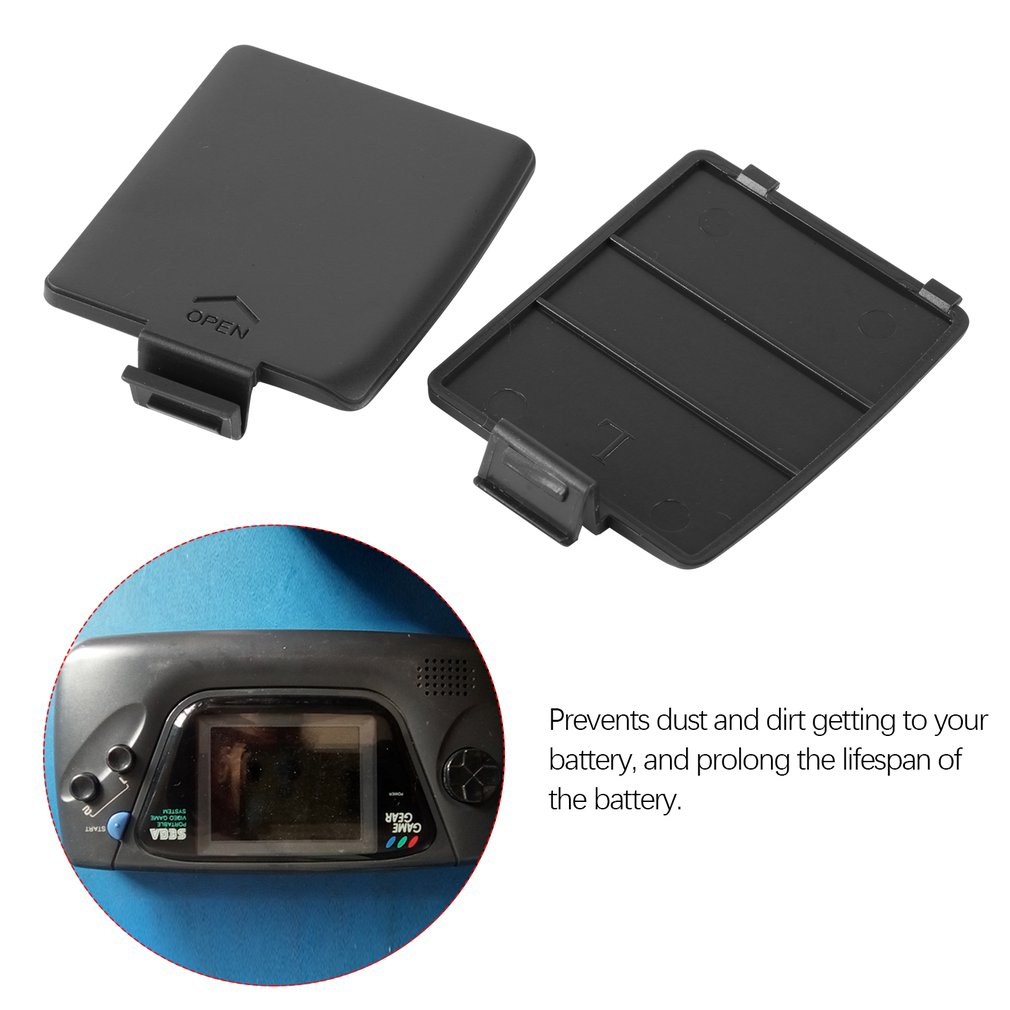1 Pair Replacement Battery Door Case Cover Lids For Sega Gamegear Console For SEGA GG Battery Door Case Cover