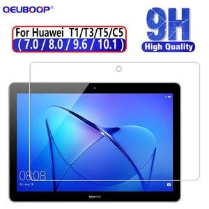 Tablet vidro temperado para huawei mediapad t5 10 vidro t3 10 honra jogar almofada 2 9.6 8 protetor de tela para t1 10.1 8 7 vidro c5 8