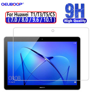 Tablet Tempered Glass For Huawei MediaPad T5 10 glass T3 10 Honor Play Pad 2 9.6 8 Screen Protector For T1 10.1 8 7 glass C5 8(China)