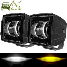Work-Light Fog-Lamp Led-Beam Barra Suv-Trucks Uaz ATV 3inch Led Flood Motorcycle Off-Road