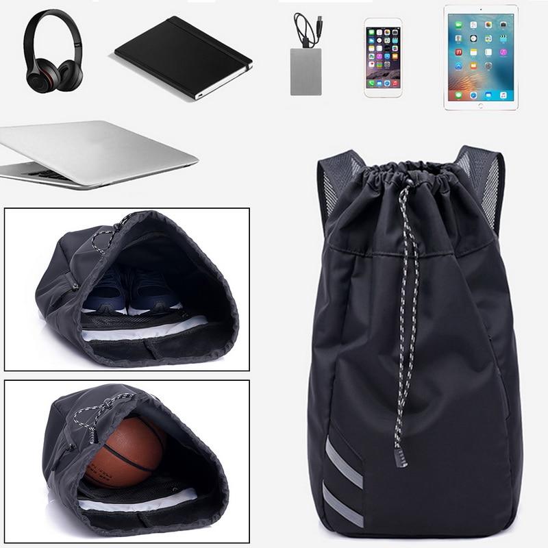 Мужской баскетбольный рюкзак SHUJIN, черный школьный рюкзак для мячей, футбольных мячей, с кулиской, для фитнеса, для занятий спортом на открытом воздухе, осень 2019-4