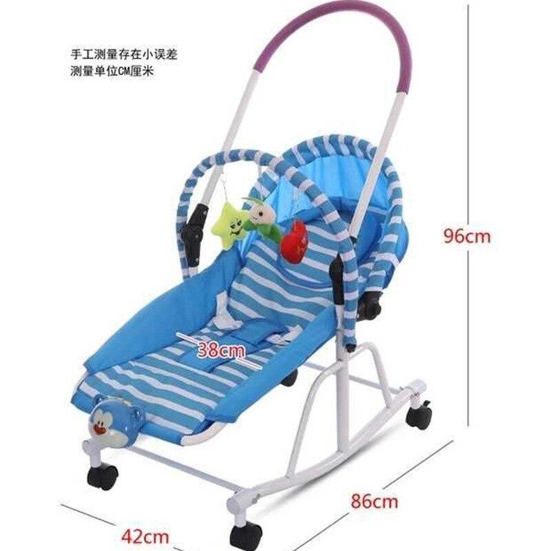 Multi-fonction nouveau-né bébé chaise berçante berceau bébé marcheur poussette bébé videur chaise chaise longue bébé balançoire fauteuil roulant 0-19 M - 2