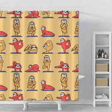 цена на Cartoon Monkey Shower Curtain Printed Waterproof Polyester Bathroom Shower Curtain Animals Bathroom Shower Curtain With Hooks